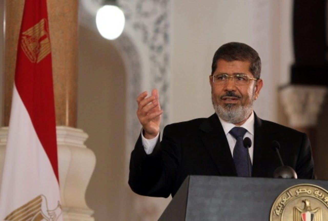 De Egyptische president Mohamed Mursi. EPA