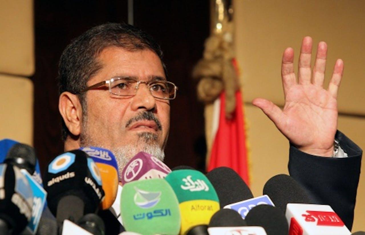 De Egyptische president Mohammed Mursi. EPA