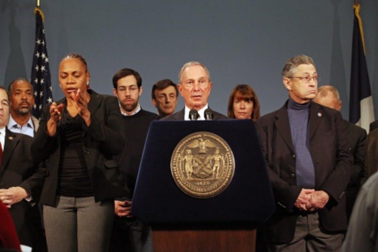 Burgemeester Bloomberg. EPA