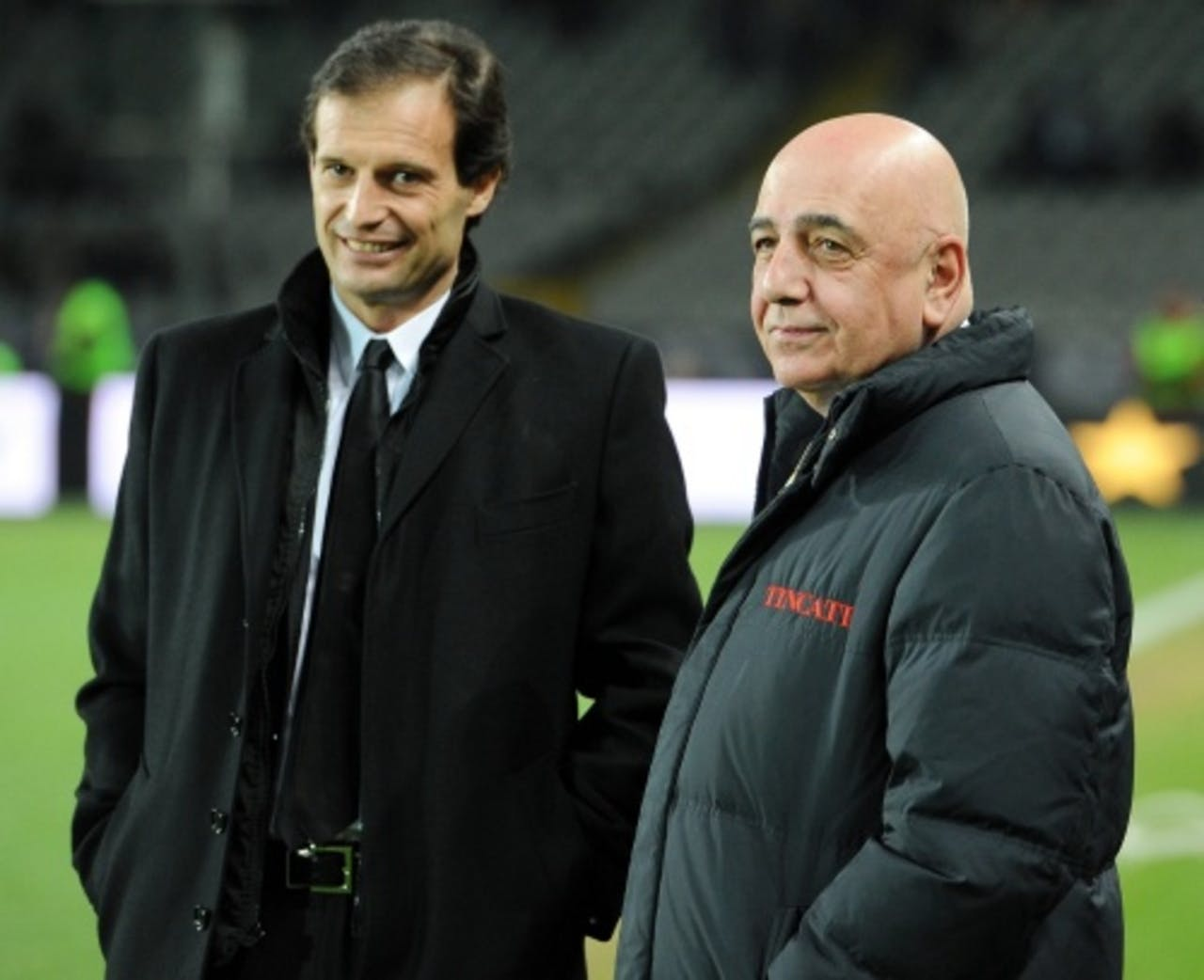 Massimiliano Allegri (L) en Adriano Galliani. EPA
