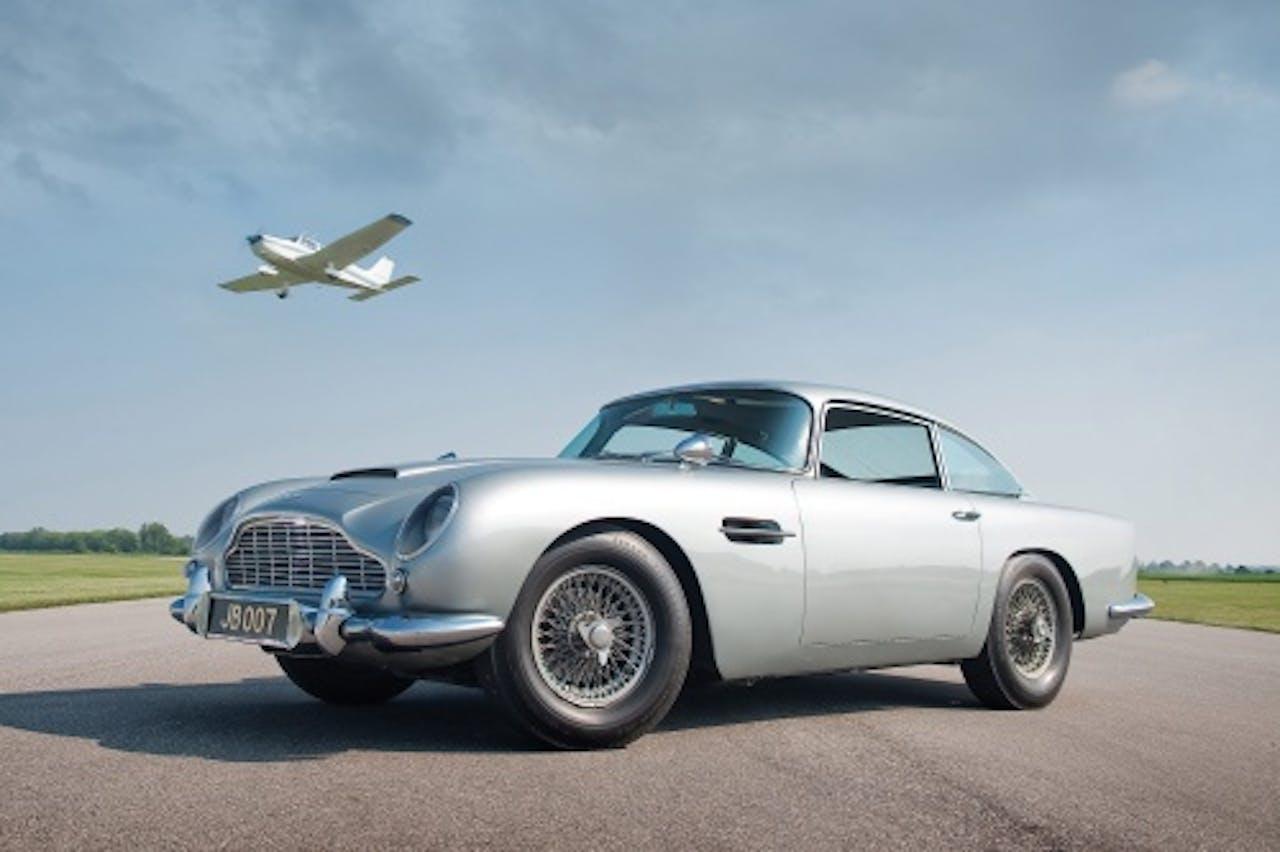 De Aston Martin DB5 uit de Bondfilms Goldfinger en Thunderball. EPA