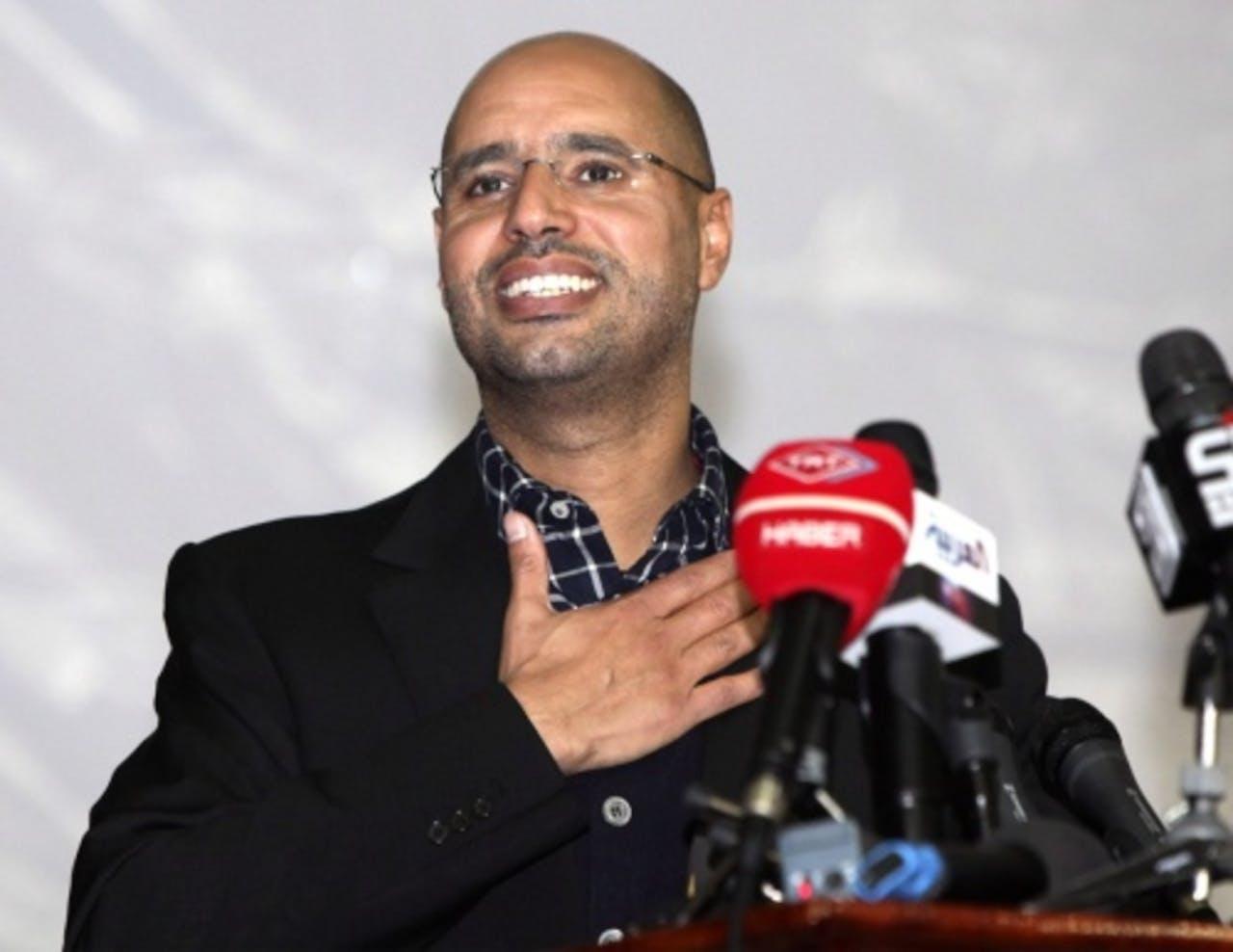 Saif al-Islam Gaddafi op archiefbeeld. EPA