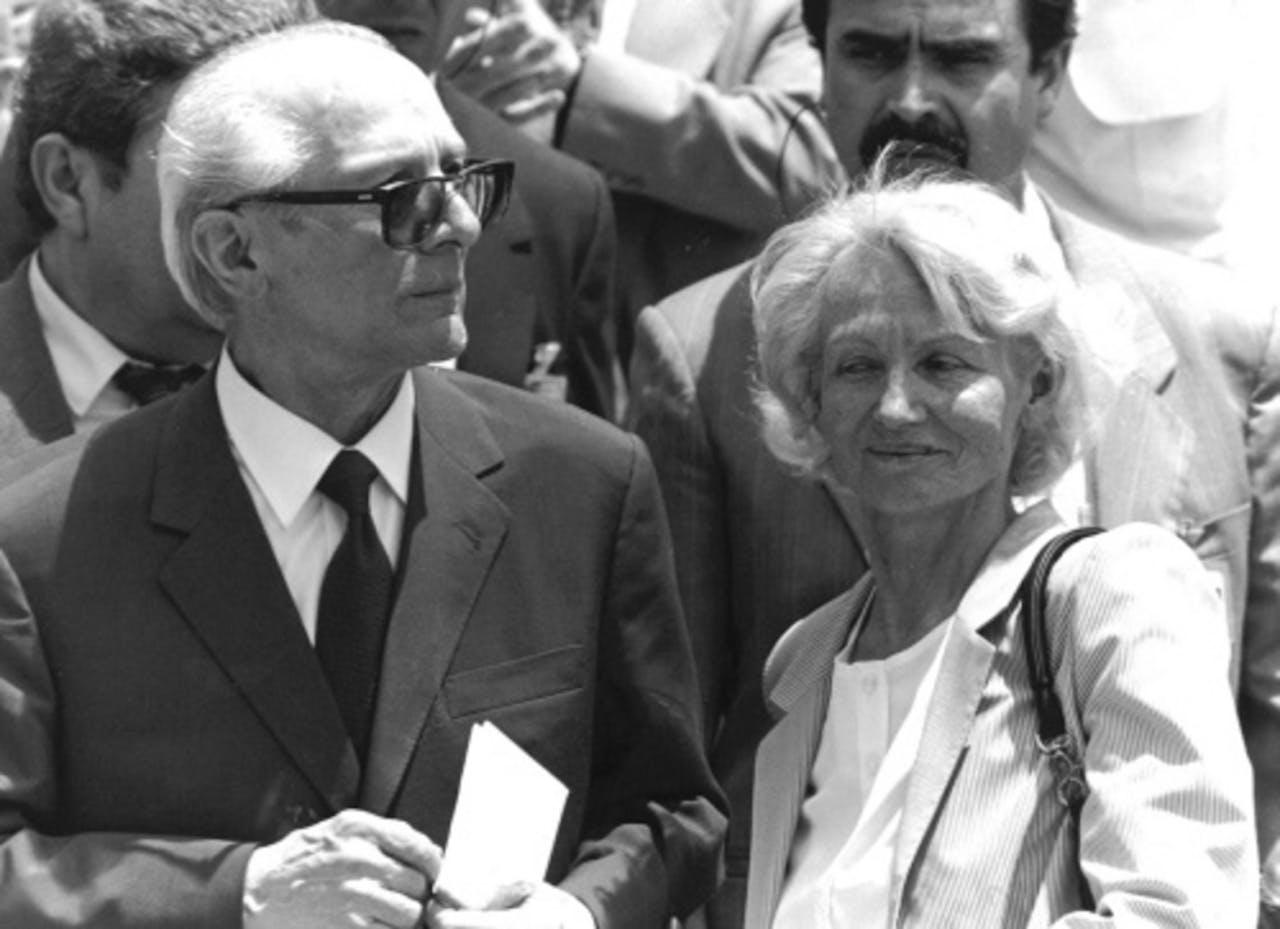 Erich en Margot Honecker. Archiefbeeld uit 1993. EPA
