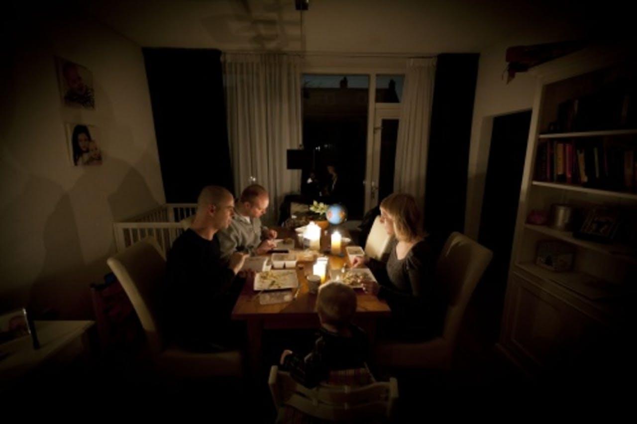 Drie wijken in Rotterdam zaten afgelopen januari ook al zonder stroom. ANP