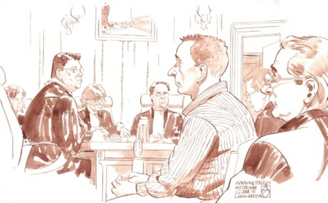 Verdachte Peter M. voor de rechter in de Groninger hiv-zaak. ANP