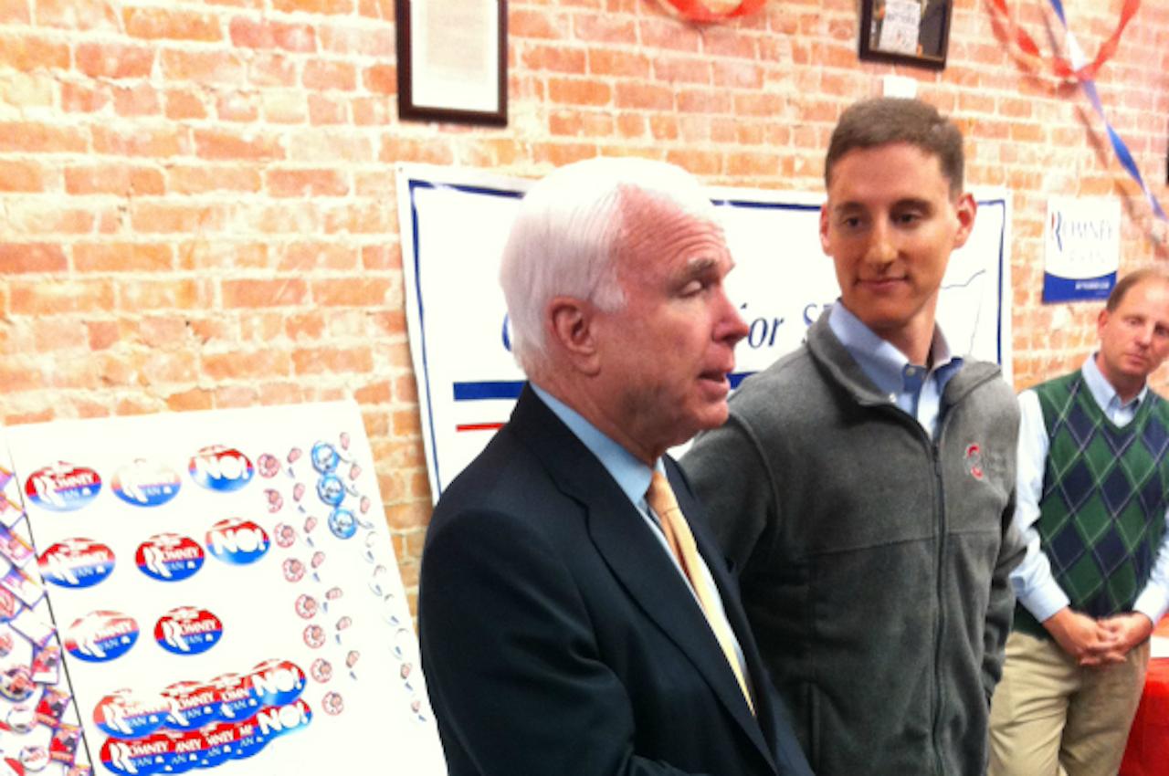 John McCain en Josh Mandel in Ohio. Foto: Martijn de Rijk