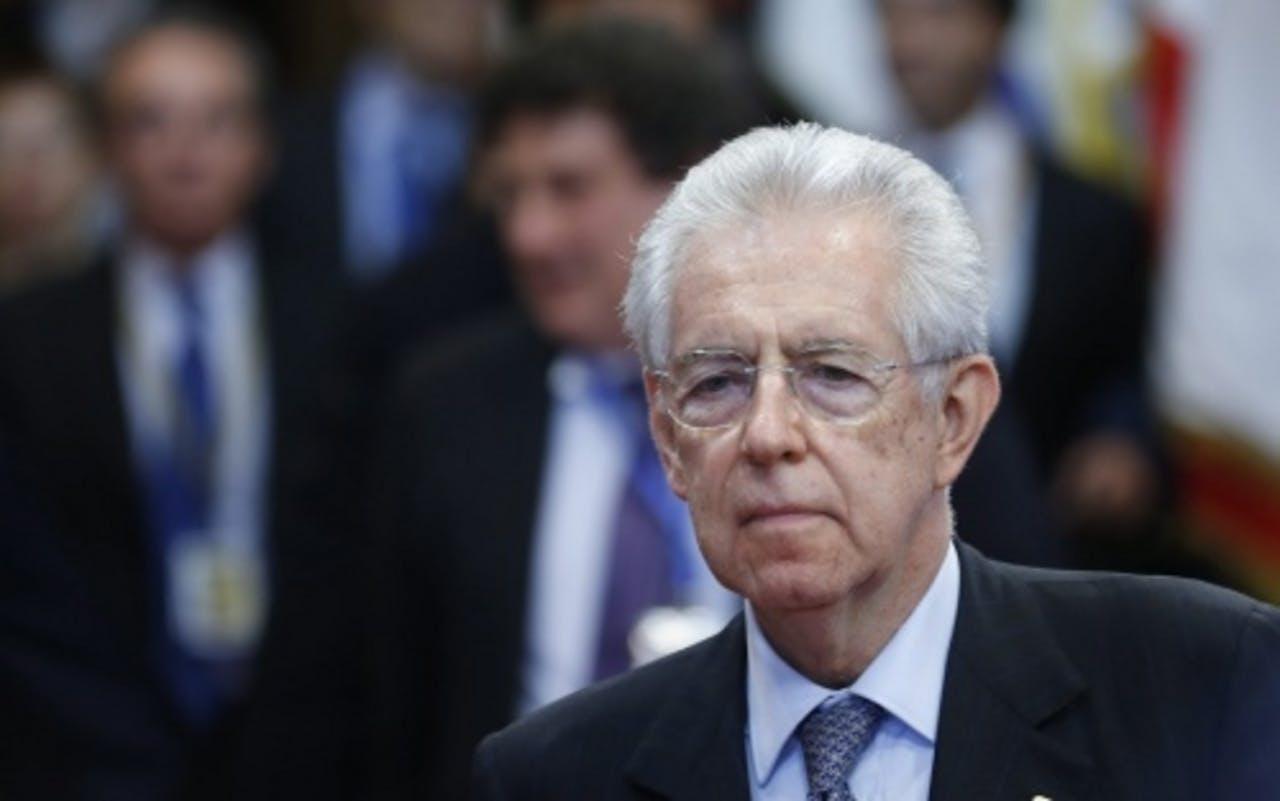 Premier Mario Monti van Italië. EPA