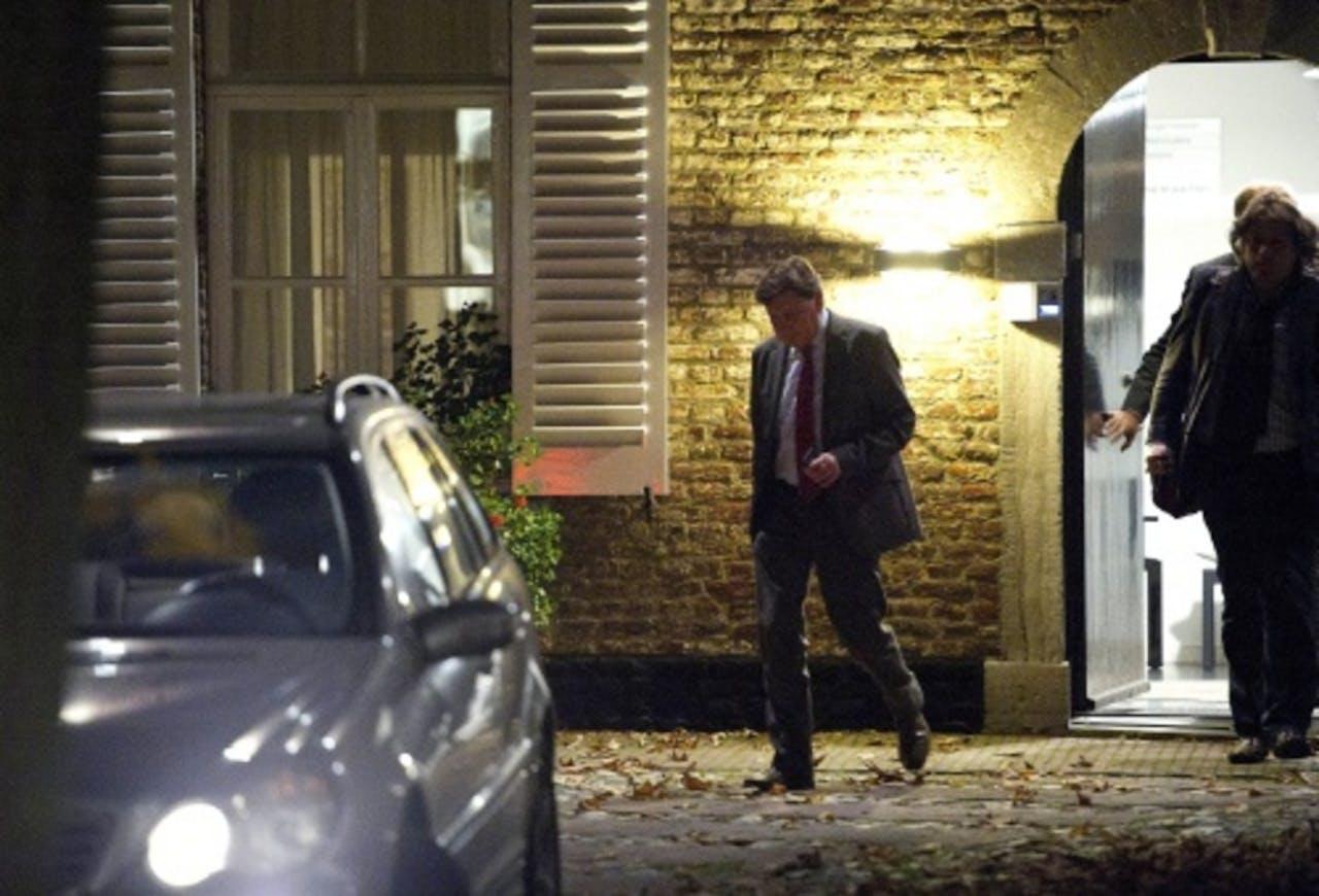 Ricardo Offermanns verlaat dinsdag het gemeentehuis in Meerssen. ANP