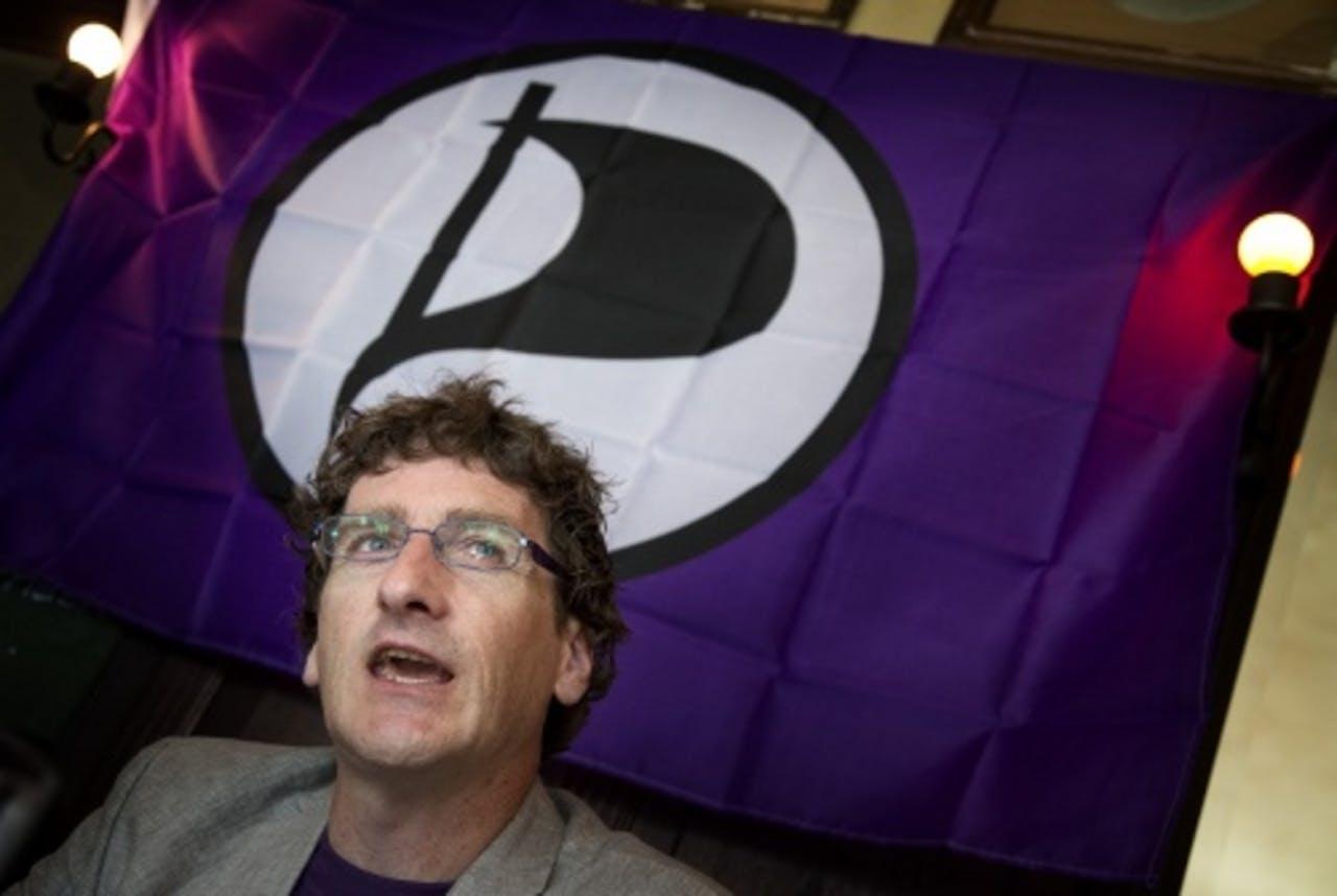 Lijsttrekker Dirk Poot van de Piratenpartij. ANP