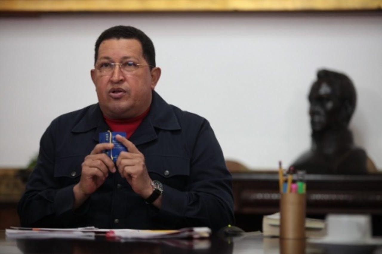 Hugo Chávez op archiefbeeld. EPA