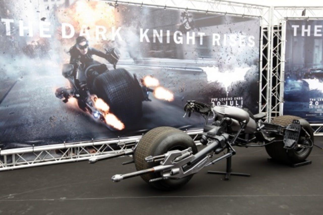 De Bat-Pod uit de Batman-film The Dark Knight Rises op het circuit in Assen. ANP