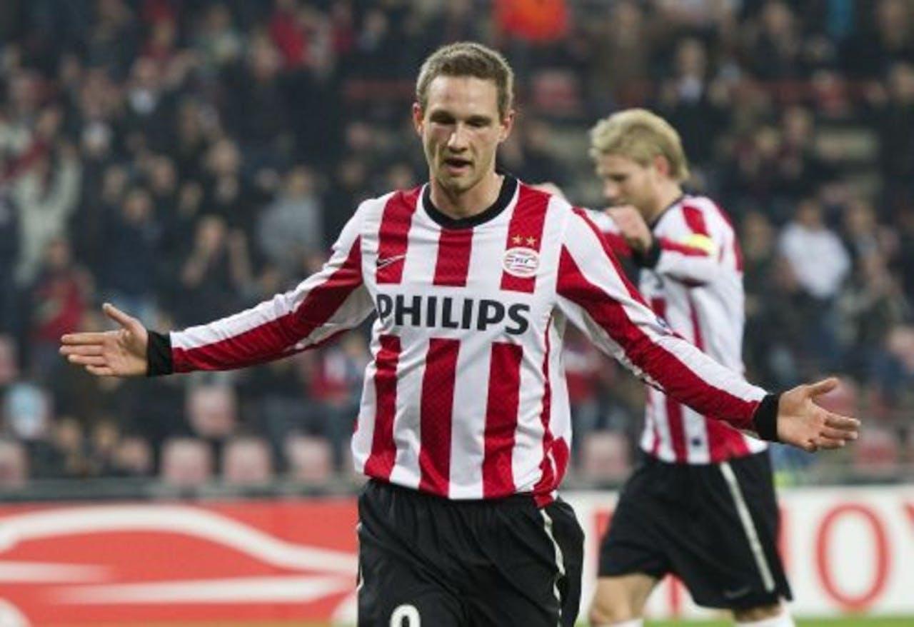 PSV-speler Tim Matavz na de 2-0. ANP
