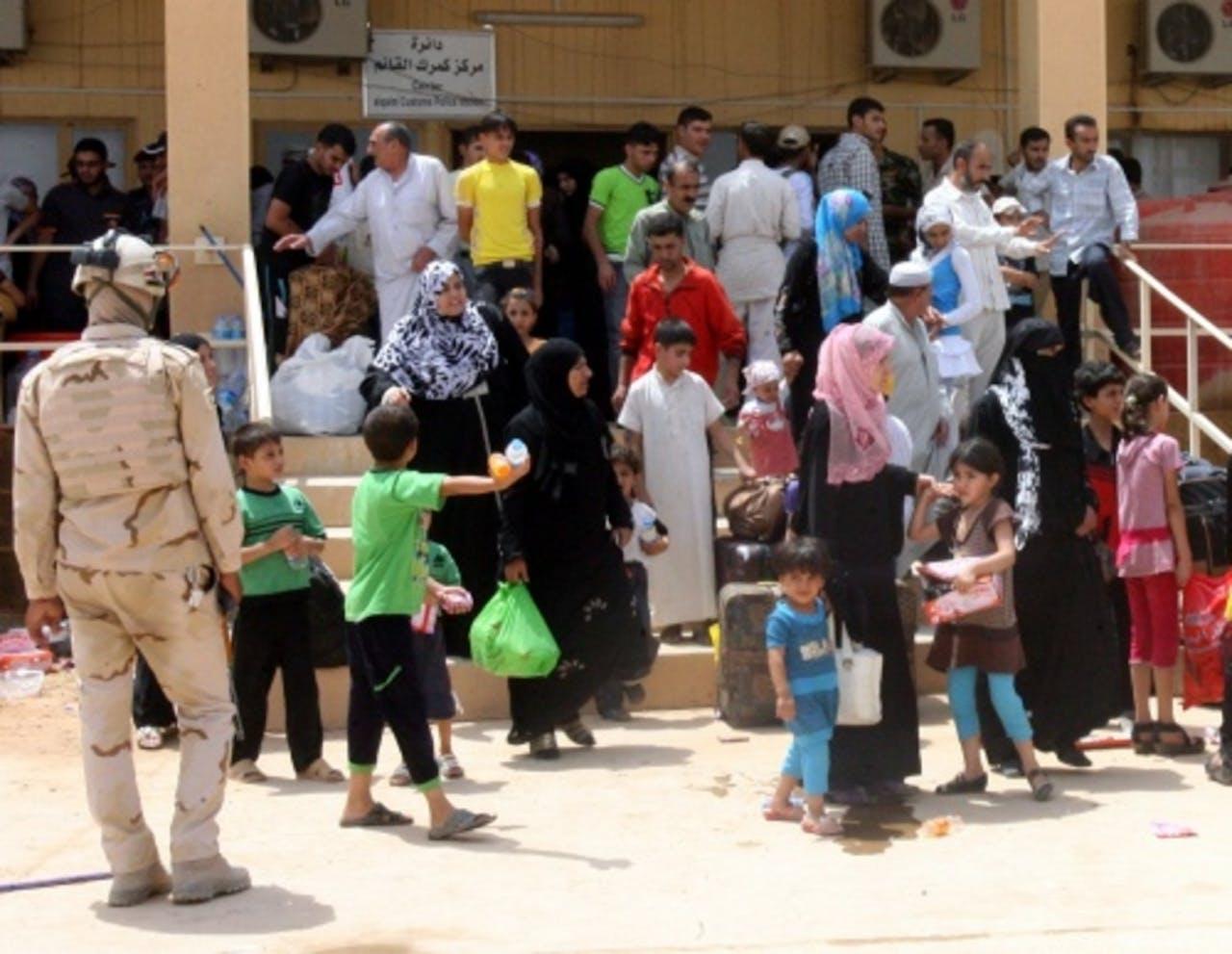 Syrische vluchtelingen (archiefbeeld). EPA