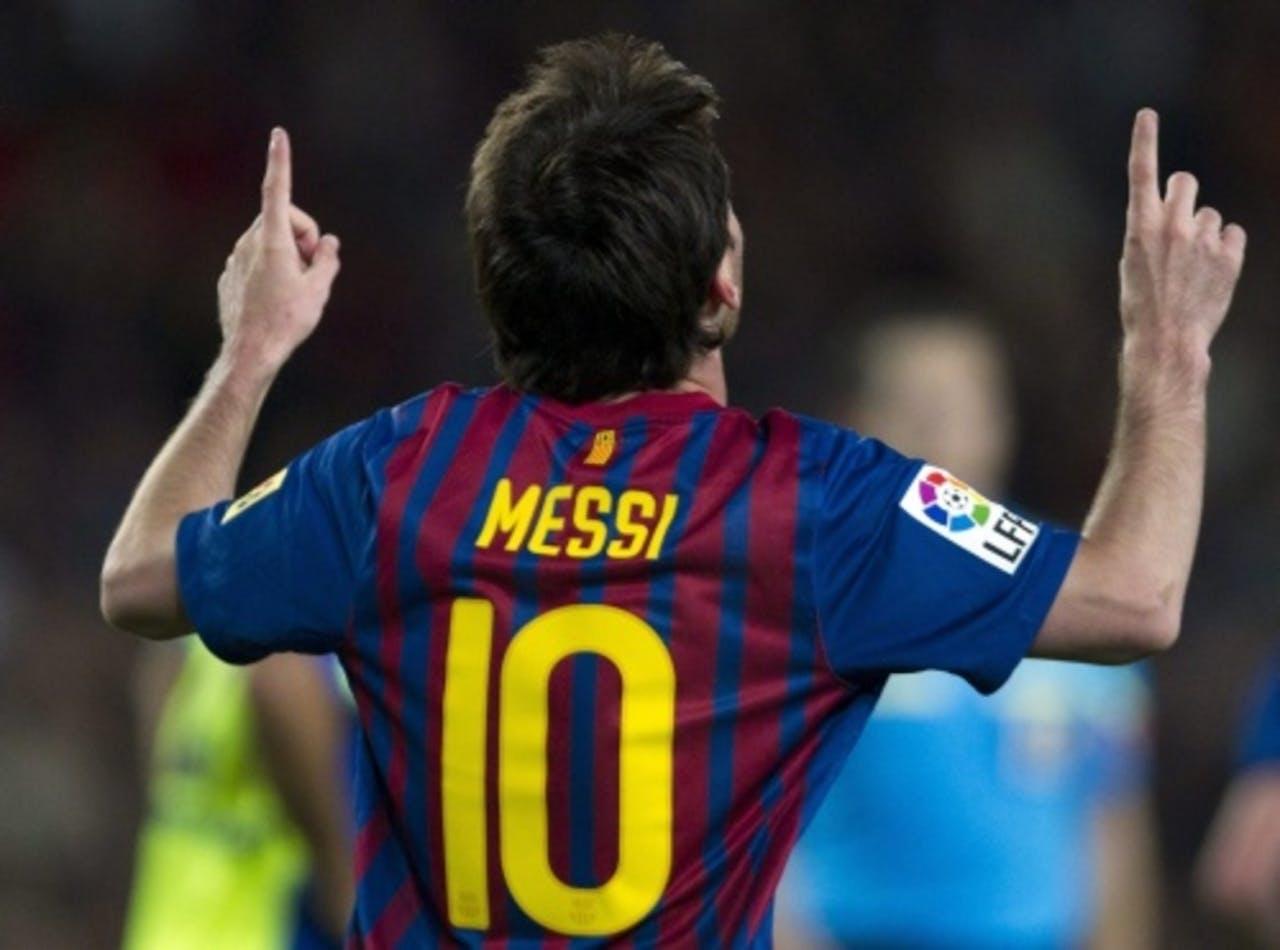 Lionel Messi was weer belangrijk voor Barcelona (archieffoto, 10 april 2012). EPA