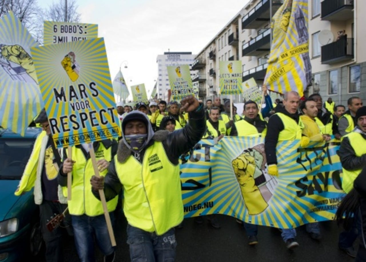 Archieffoto, demonstratie 5 januari 2012. ANP