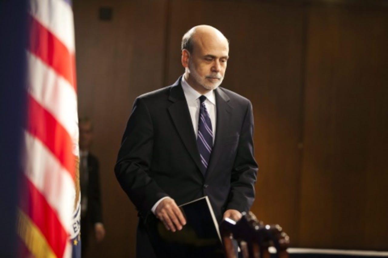Ben Bernanke, president van de Amerikaanse centrale bank. EPA
