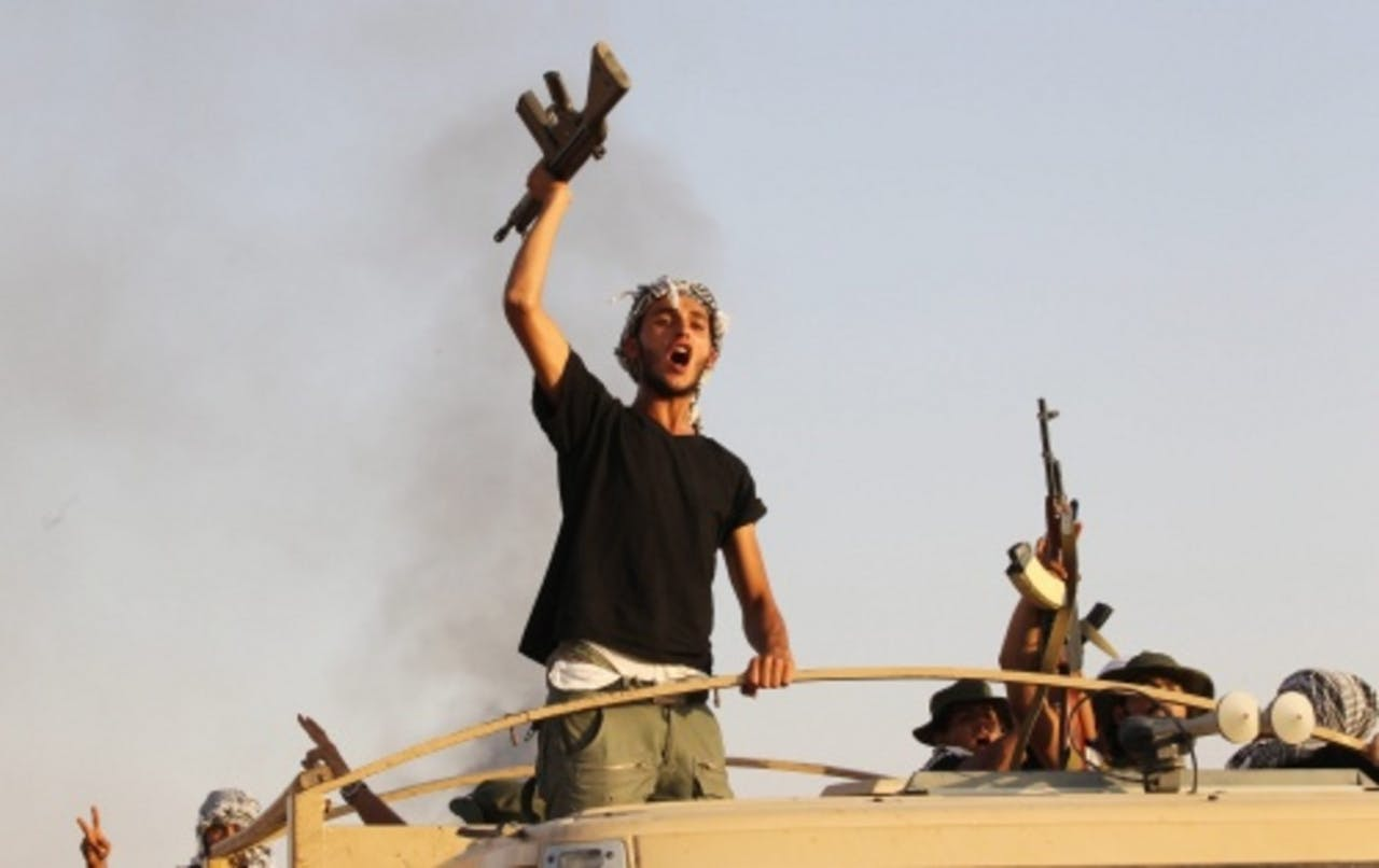 Libische rebellen. Archieffoto uit september 2011.