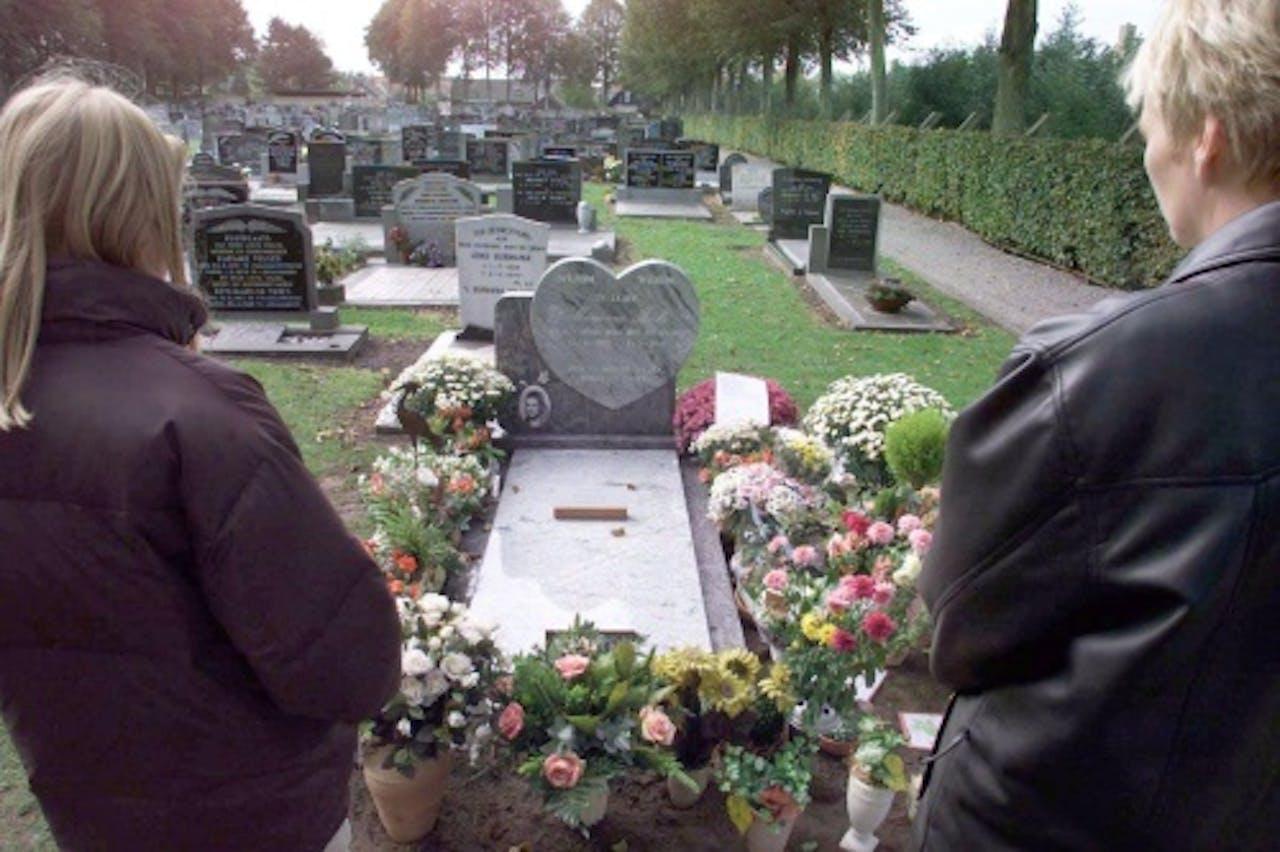 Archiefbeeld van het graf van Marianne Vaatstra. ANP