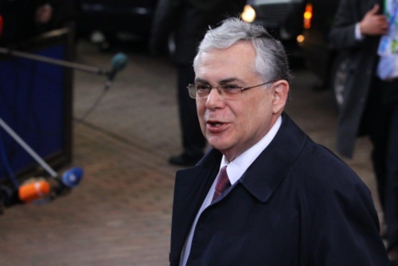 De Griekse premier Lucas Papademos. EPA