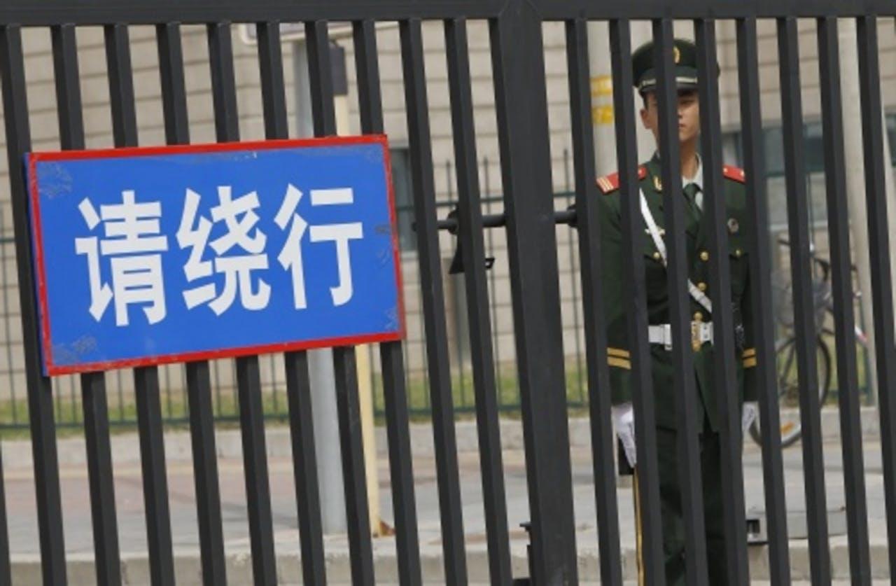De Amerikaanse ambassade in Peking. EPA