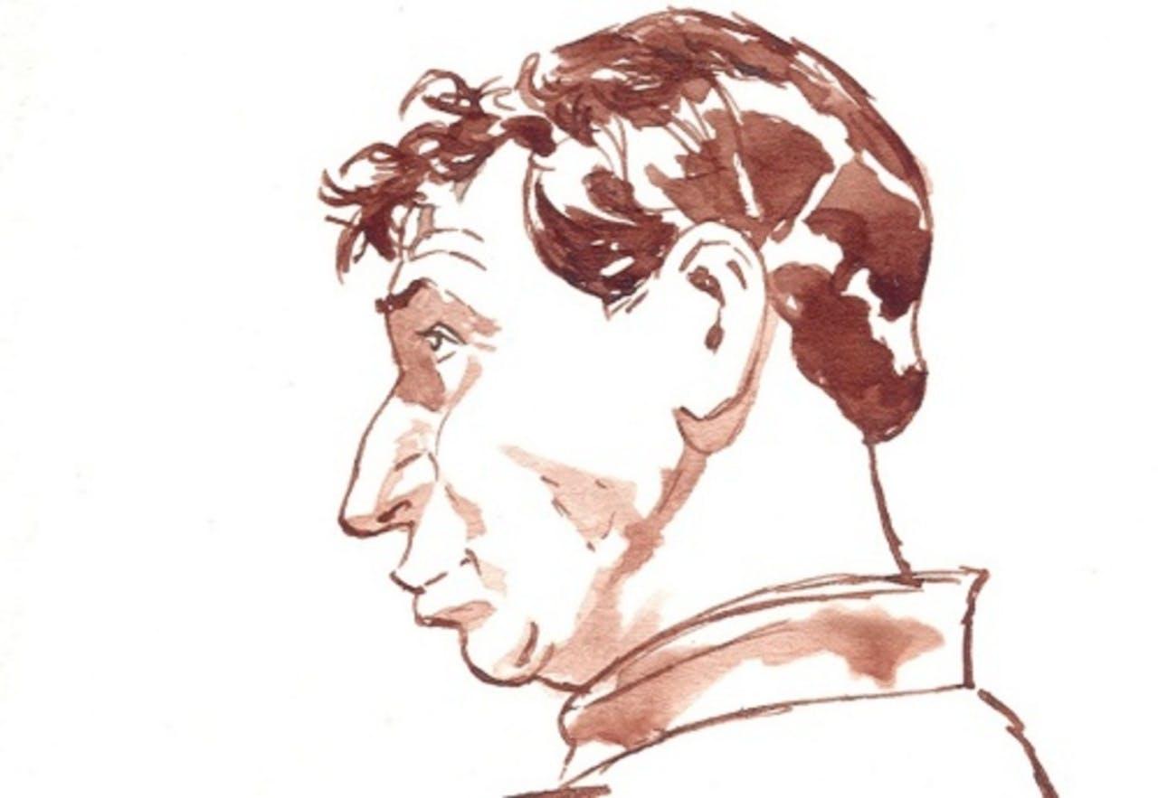 Rechtbanktekening van Willem Holleerder. ANP