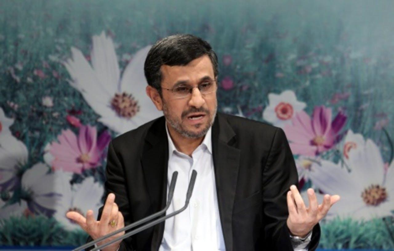 De Iraanse president Mahmoud Ahmadinejad. EPA