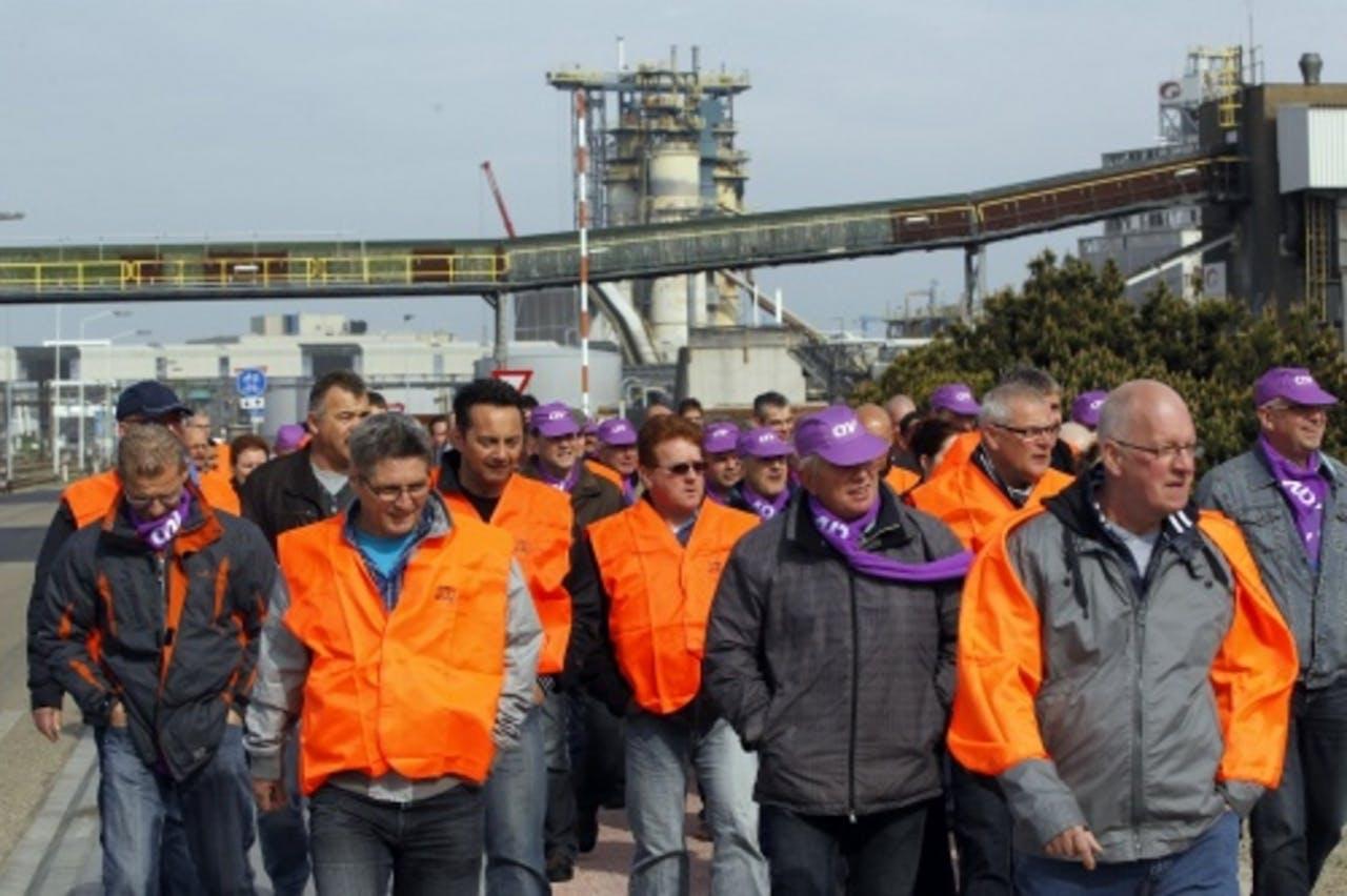In mei werden er bij AkzoNobel werkonderbrekingen gehouden. EPA