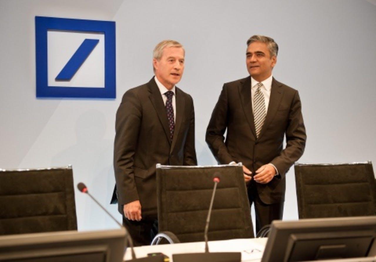Jürgen Fitschen en Anshu Jain. EPA