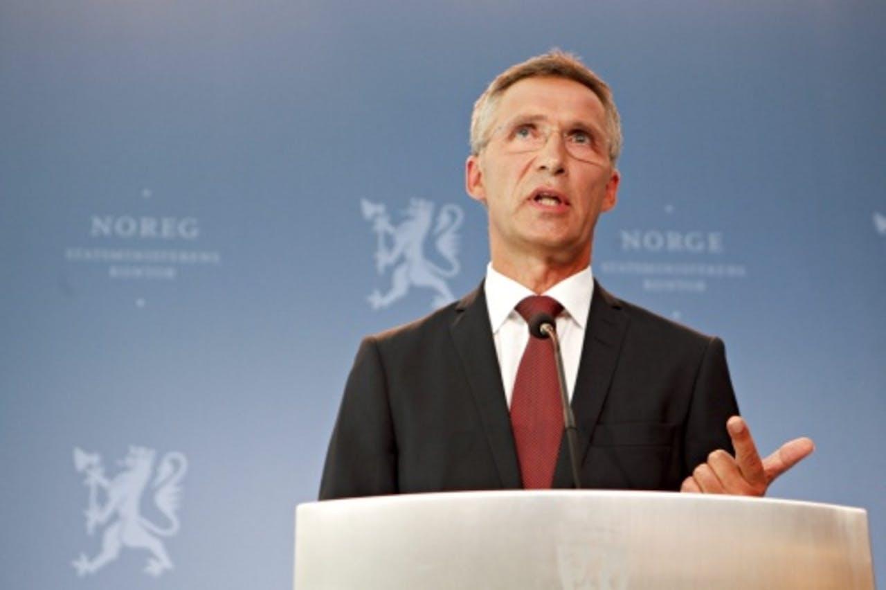 Premier Jens Stoltenberg. EPA