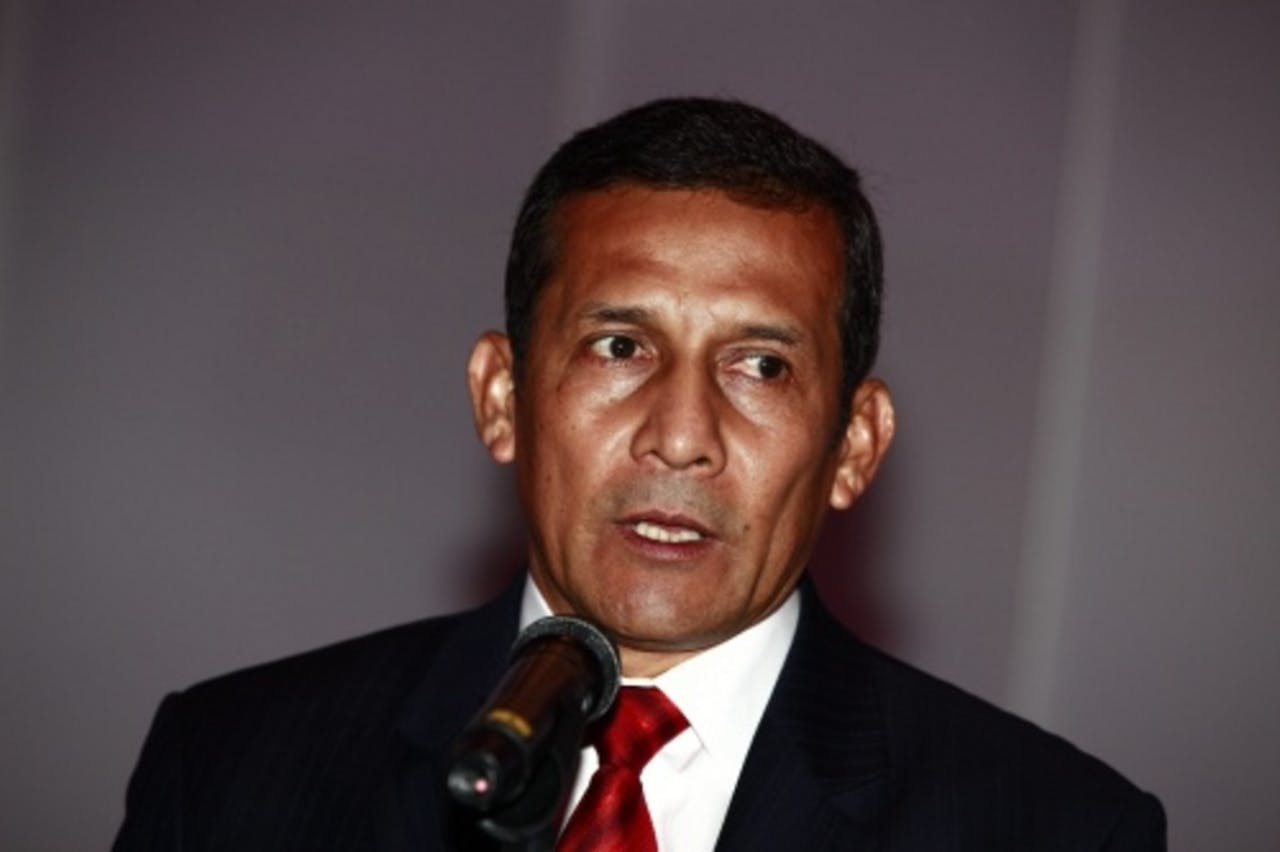 De Peruaanse president Ollanta Humala. EPA
