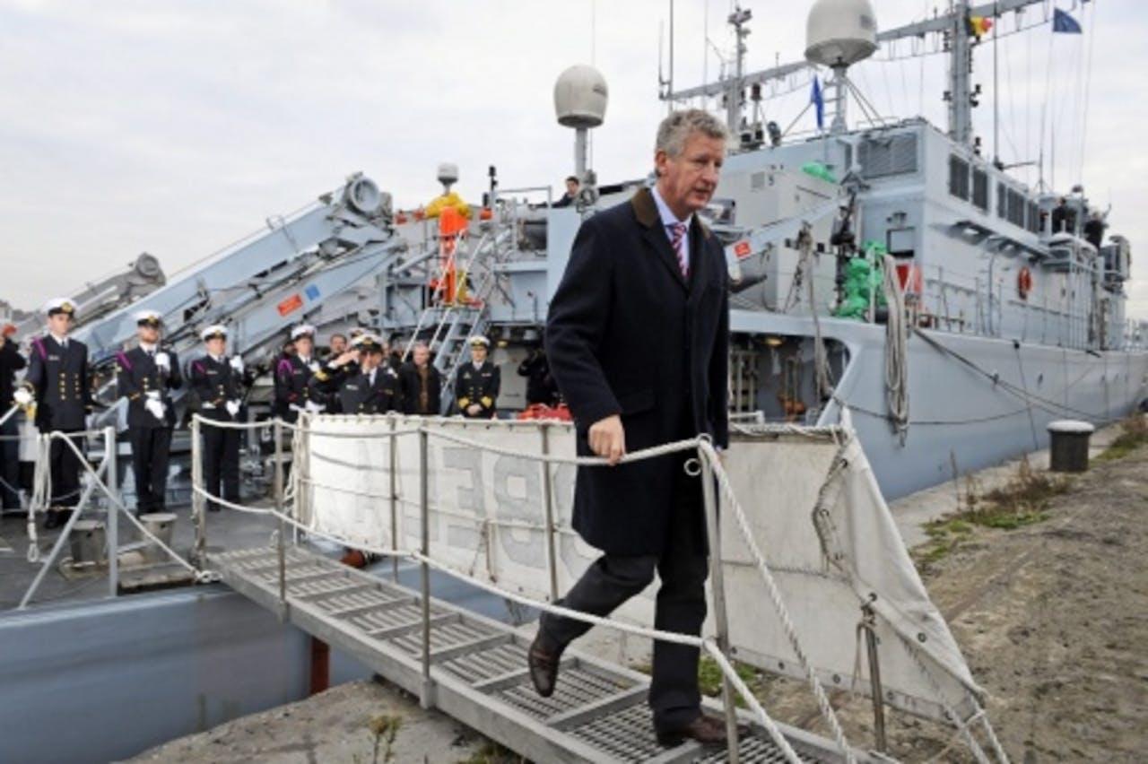 Belgische minister van Defensie Pieter De Crem. EPA