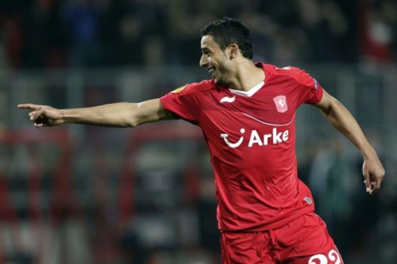Nacer Chadli van FC Twente juicht na de 1-0. ANP