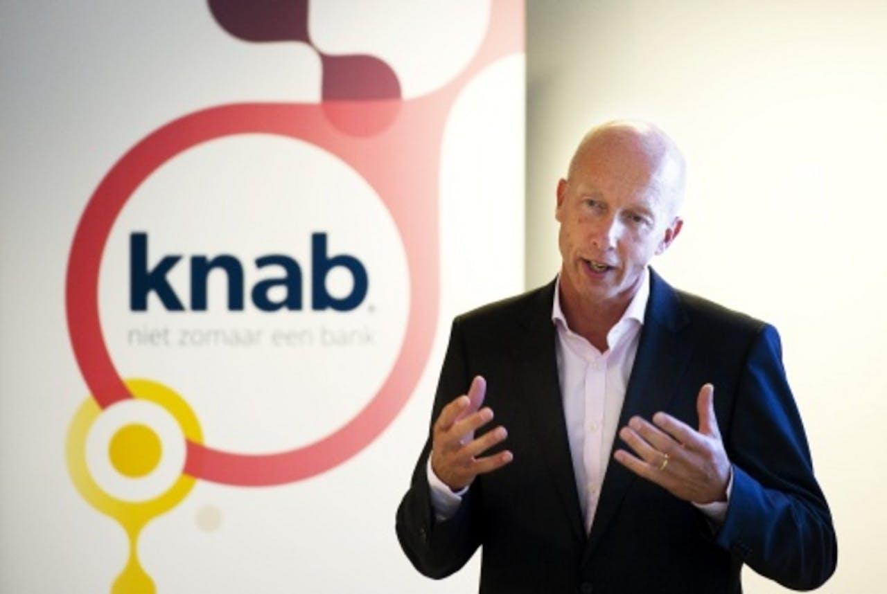 Initiatiefnemer en directeur René Frijters presenteert de Knab. ANP
