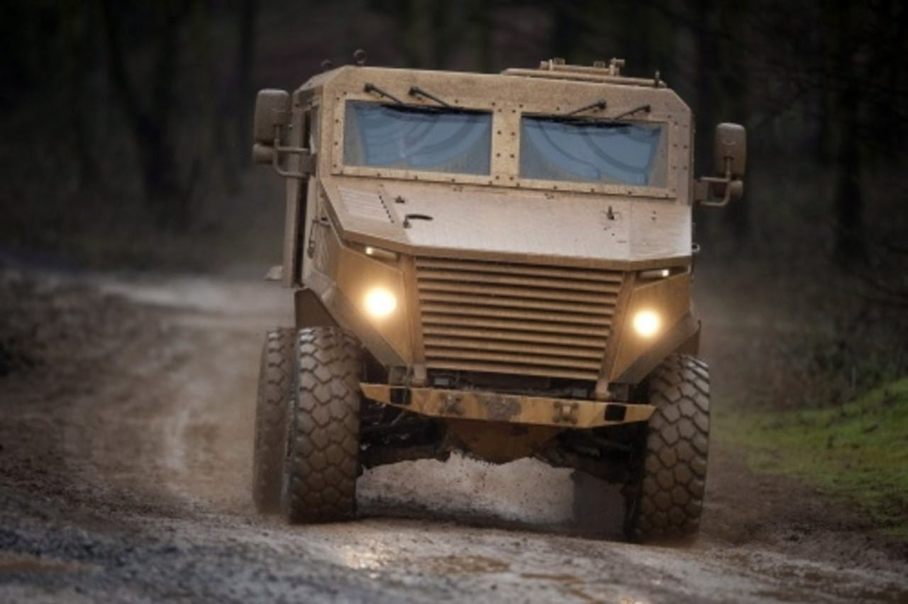 Een Foxhound Light Protected Patrol Vehicle. EPA
