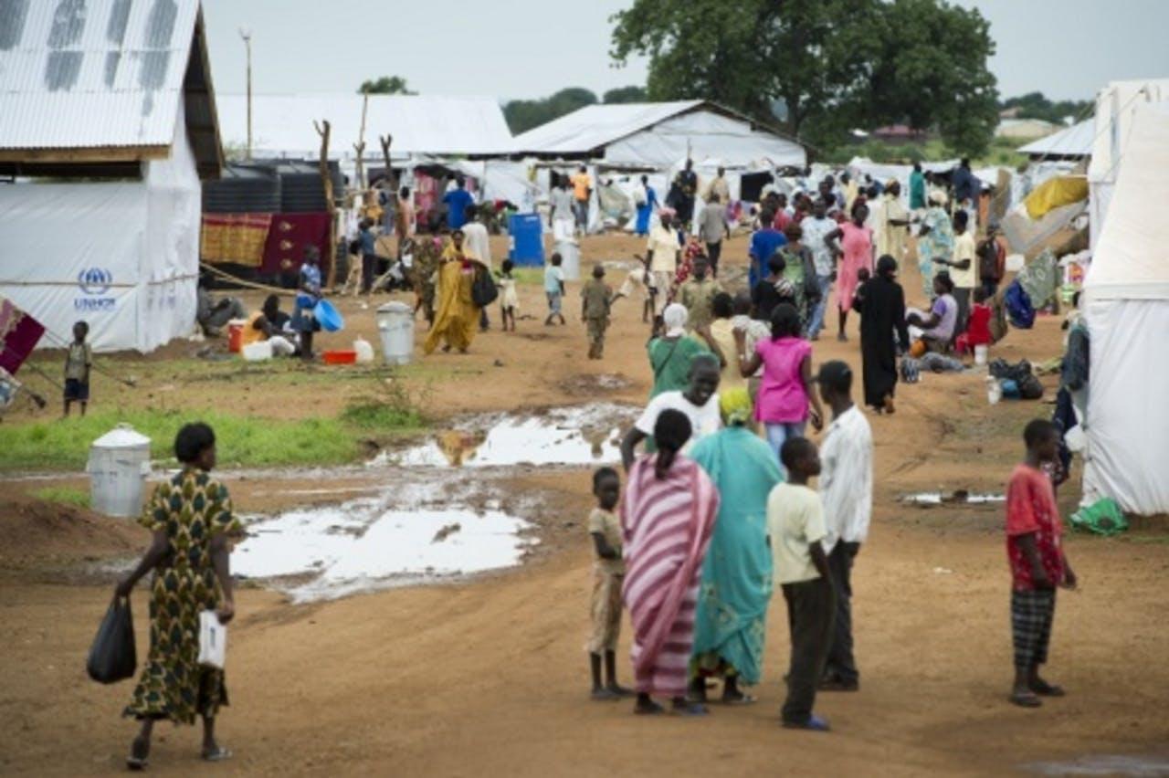 Een vluchtelingenkamp dat wordt bewoond door Sudan uitgezette Zuid-Sudanezen (archiefbeeld). ANP