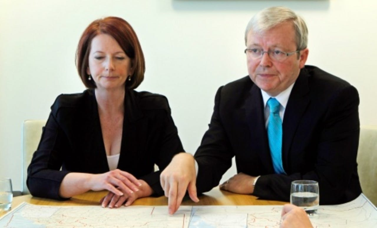 Julia Gillard en Kevin Rudd