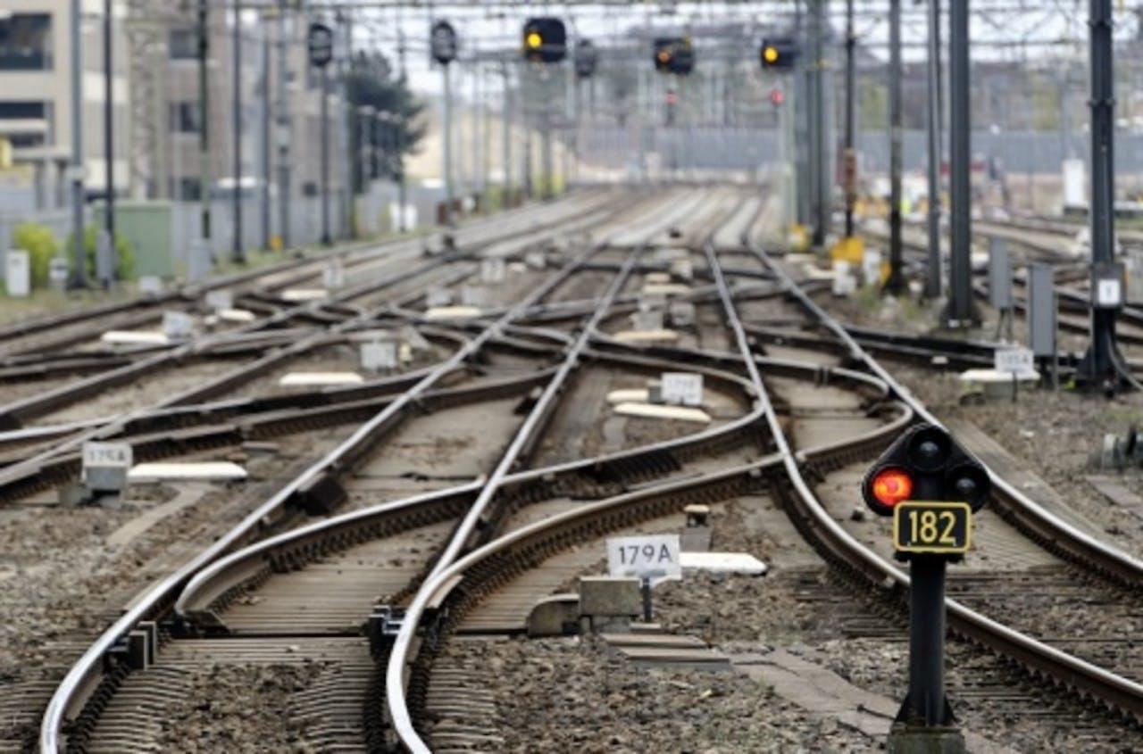 Archiefbeeld treinrails. ANP