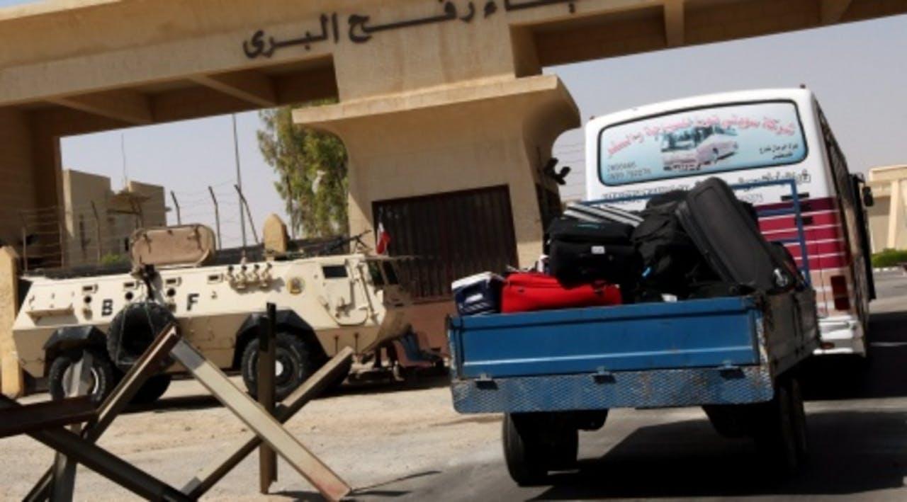 De grensovergang in Rafah. EPA
