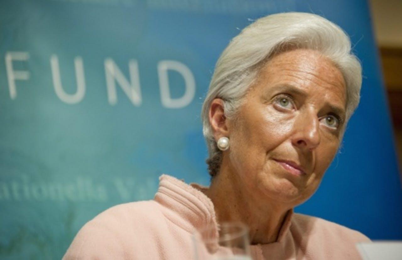 Christine Lagarde van het IMF. EPA