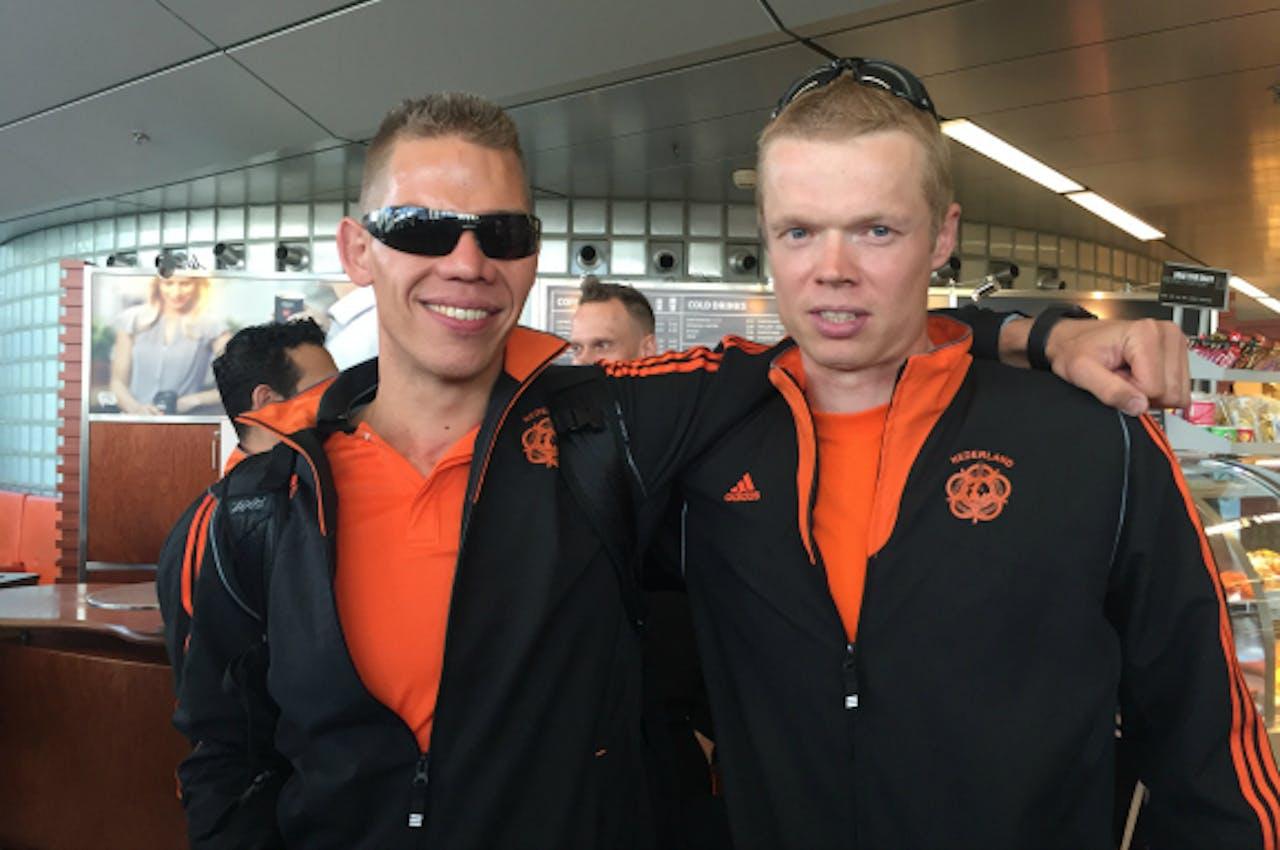 Daniël Knegt en Cor van Leeuwen op weg naar Orlando.