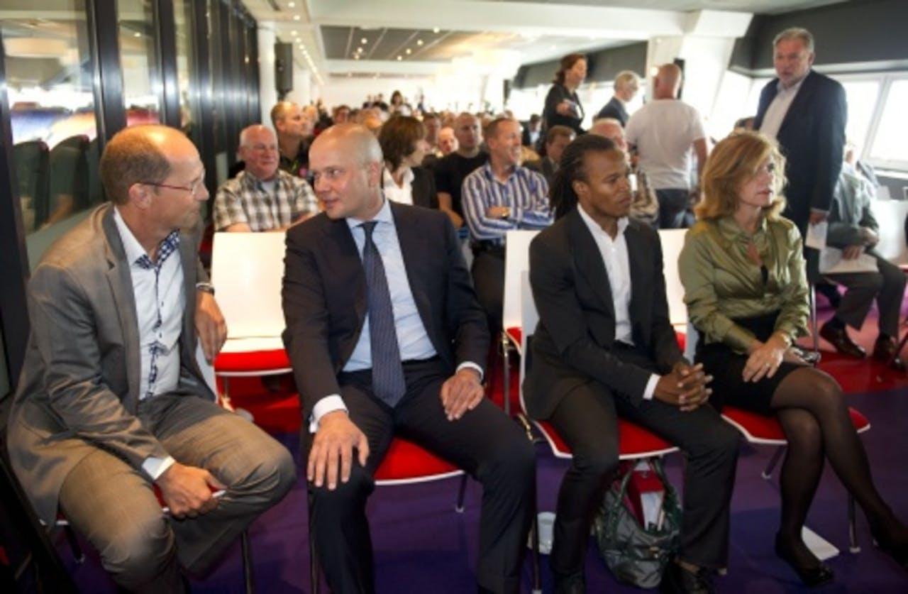 De commissarissen, zonder Johan Cruijff. ANP
