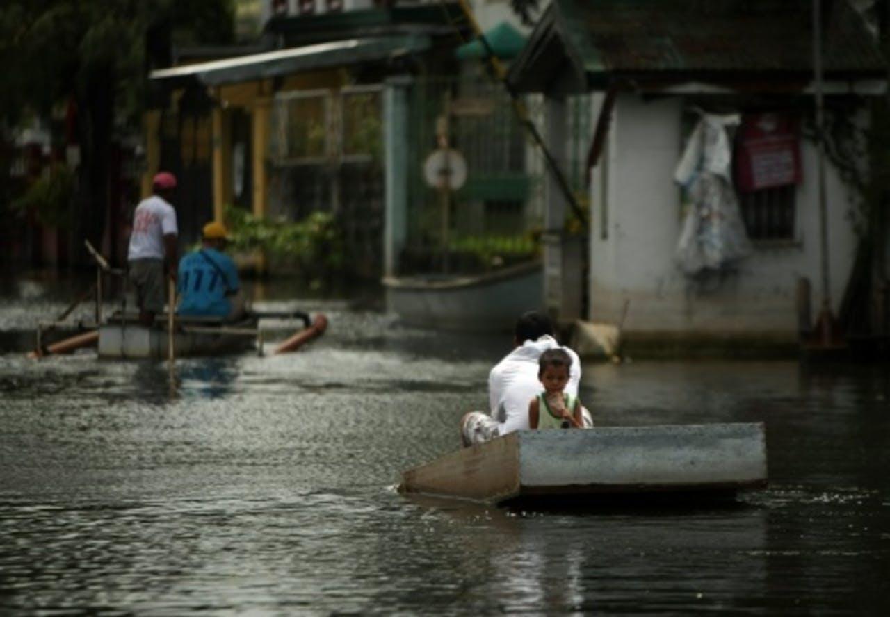 Tyfoon Jelawat raasde eerst over de Filipijnen. EPA