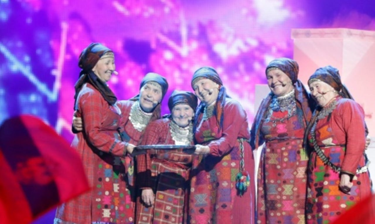 Ook de Russen hebben de finale gehaald. EPA