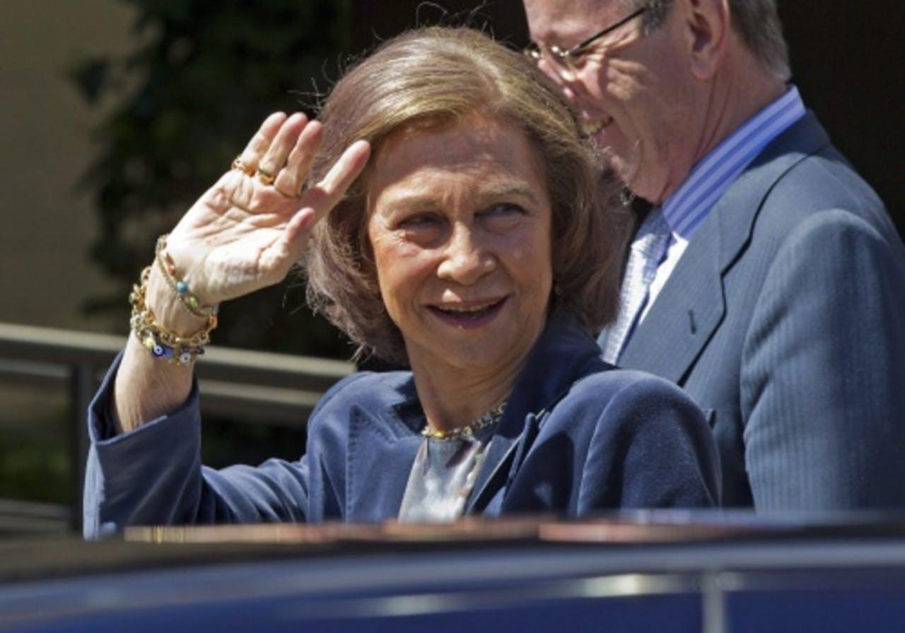 De Spaanse koningin Sofia. EPA