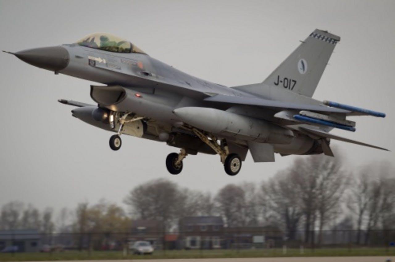 Een Nederlands gevechtsvliegtuig. ANP