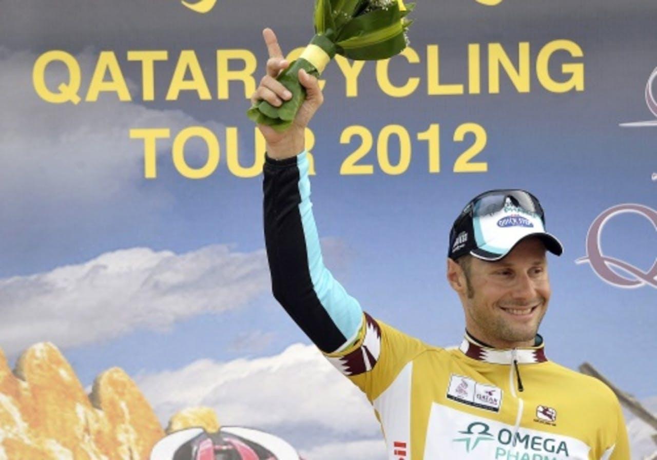 Tom Boonen bij eerdere overwinning in Qatar. EPA