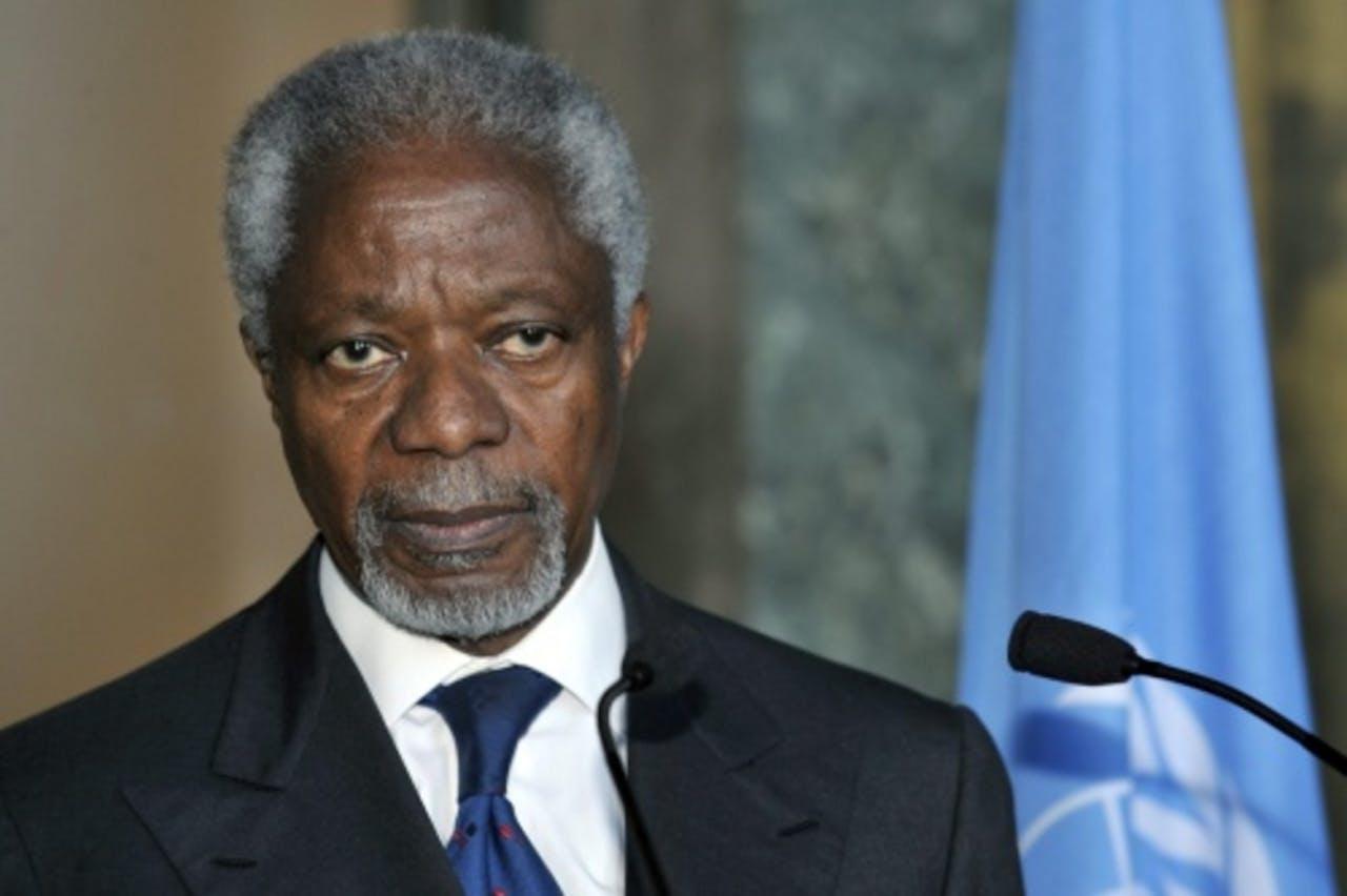 Kofi Annan, speciale gezant van de Verenigde Naties. EPA