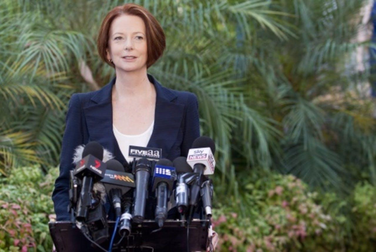 De Australische premier Julia Gillard. EPA
