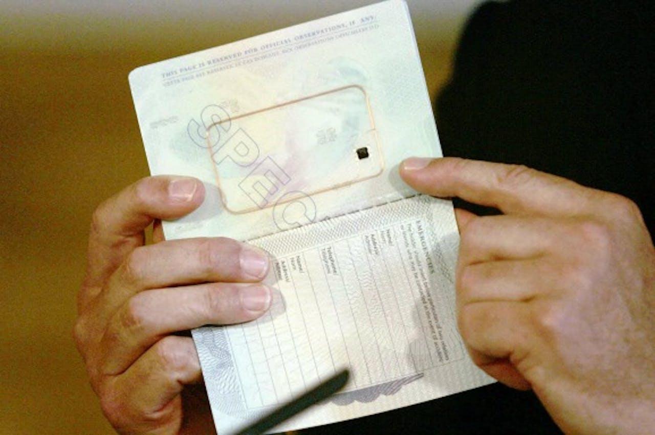 Biometrisch paspoort. Foto ANP