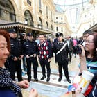 Chinese toeristen in Rome